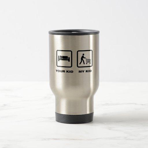 El hacer compras taza de café