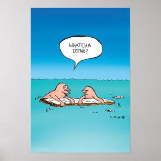 ¿El hacer de Whatca? Poster del dibujo animado del
