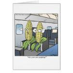 El hacer estallar del maíz tarjeta de felicitación
