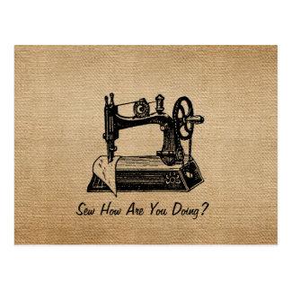 El hacer juego de costura del vintage de la arpill postales