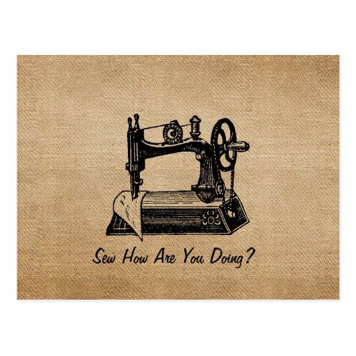 El hacer juego de costura del vintage de la arpill tarjetas postales