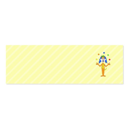 El hacer juegos malabares brillante y colorido del tarjetas de visita mini
