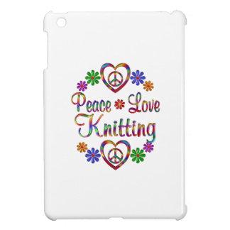 El hacer punto colorido del amor de la paz