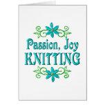El hacer punto de la alegría de la pasión tarjeta