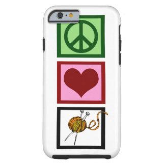 El hacer punto del amor de la paz funda de iPhone 6 tough
