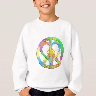 El hacer punto del amor de la paz sudadera