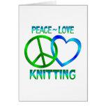 El HACER PUNTO del amor de la paz Tarjeta