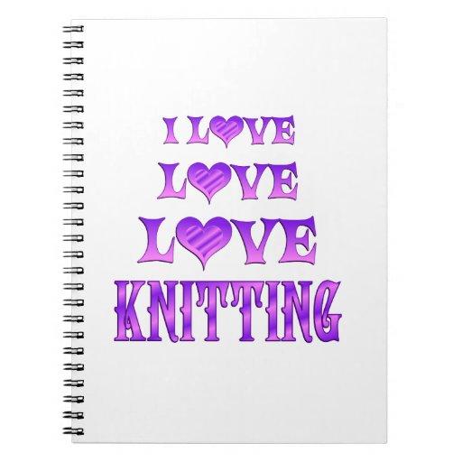 El hacer punto del amor del amor libros de apuntes con espiral