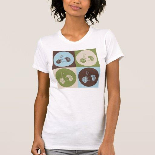 El hacer punto del arte pop camisetas