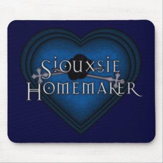 El hacer punto del casero de Siouxsie (azul) Tapetes De Ratón