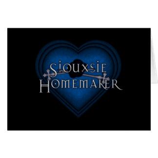 El hacer punto del casero de Siouxsie (azul) Tarjeta De Felicitación