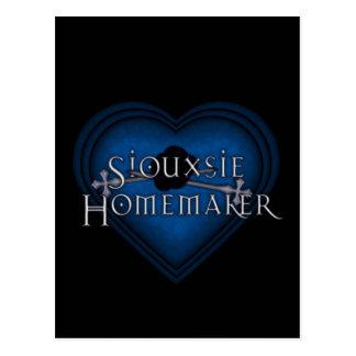 El hacer punto del casero de Siouxsie (azul) Tarjeta Postal
