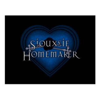 El hacer punto del casero de Siouxsie (azul) Postales
