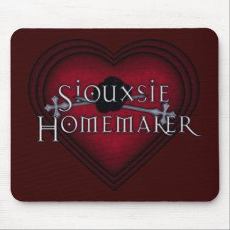 El hacer punto del casero de Siouxsie (rojo) Mousepad