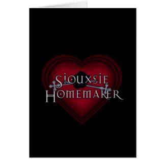 El hacer punto del casero de Siouxsie (rojo) Tarjeta De Felicitación
