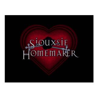 El hacer punto del casero de Siouxsie (rojo) Postal