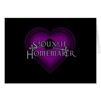 El hacer punto del casero de Siouxsie (violeta) Tarjeta De Felicitación