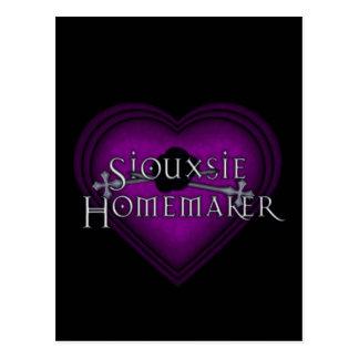 El hacer punto del casero de Siouxsie (violeta) Tarjeta Postal
