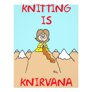 el hacer punto es gurú del knirvana flyer a todo color