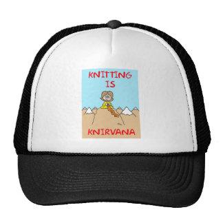 el hacer punto es gurú del knirvana gorras