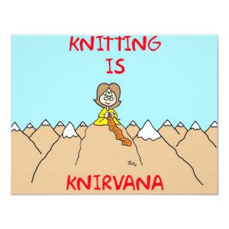 """el hacer punto es gurú del knirvana invitación 4.25"""" x 5.5"""""""