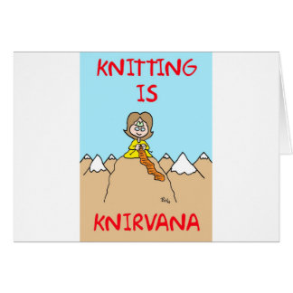 el hacer punto es gurú del knirvana tarjeta de felicitación