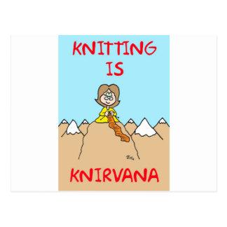 el hacer punto es gurú del knirvana tarjetas postales
