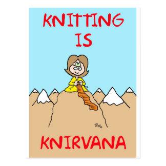el hacer punto es gurú del knirvana postal