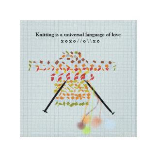 El hacer punto es una lengua universal del amor impresión en lienzo