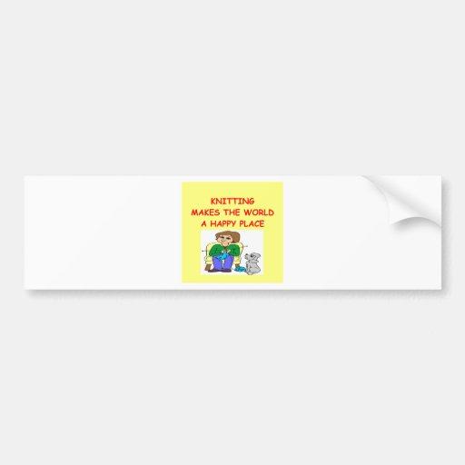 el hacer punto etiqueta de parachoque