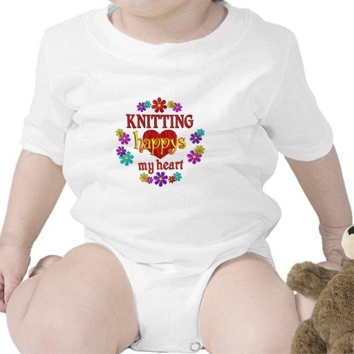 El hacer punto feliz trajes de bebé