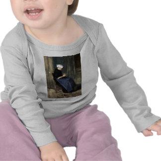 El hacer punto joven de la mujer de Scheveningen Camiseta