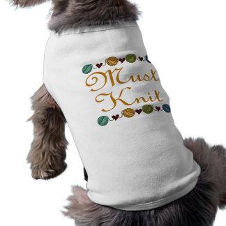 El hacer punto lindo debe hacer punto el regalo playera sin mangas para perro