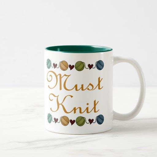 El hacer punto lindo debe hacer punto el regalo taza de dos tonos