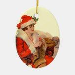 El hacer punto para el navidad adorno