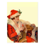 El hacer punto para el navidad tarjeta postal