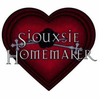 El hacer punto rojo del casero de Siouxsie Escultura Fotográfica