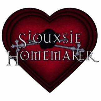 El hacer punto rojo del casero de Siouxsie Fotoescultura Vertical
