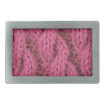 El hacer punto rosado del cable hebilla de cinturon rectangular