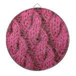 El hacer punto rosado del cable tablero dardos