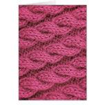 El hacer punto rosado del cable tarjeta de felicitación