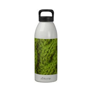 El hacer punto verde del cable botellas de agua reutilizables
