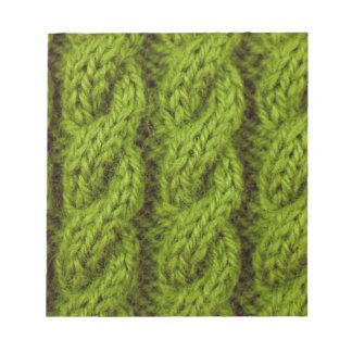 El hacer punto verde del cable blocs de notas