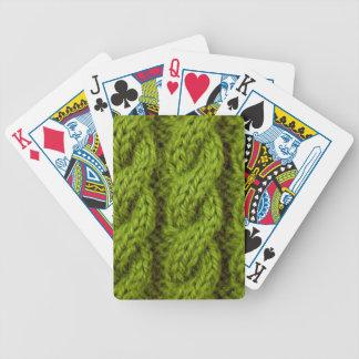 El hacer punto verde del cable barajas de cartas