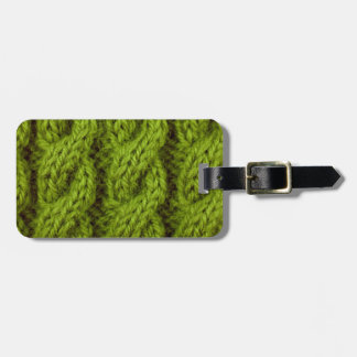 El hacer punto verde del cable etiquetas para maletas