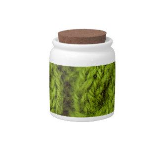 El hacer punto verde del cable jarras para caramelos