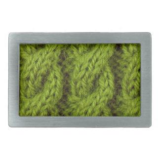 El hacer punto verde del cable hebillas de cinturón rectangulares