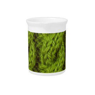 El hacer punto verde del cable jarras de beber