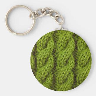 El hacer punto verde del cable llavero redondo tipo pin