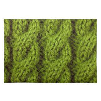 El hacer punto verde del cable mantel individual